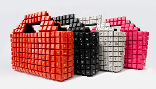 сумка сделанная из клавиатуры