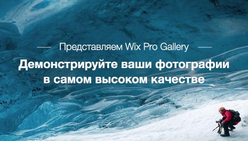 лучшая фотогалерея онлайн Wix Pro Gallery